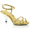 BELLE-316 Gold Faux Leather/Clear